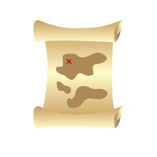 宝の地図を解読中