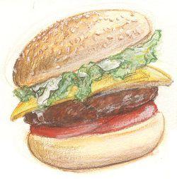 美味しいハンバーガー